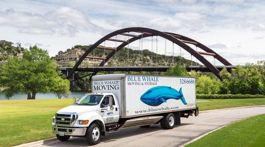 Blue Whale Austin TX Movers - Truck