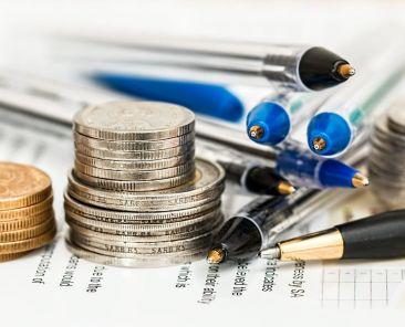pens, coins