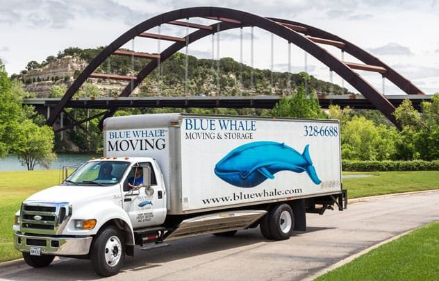 blue whale moving truck